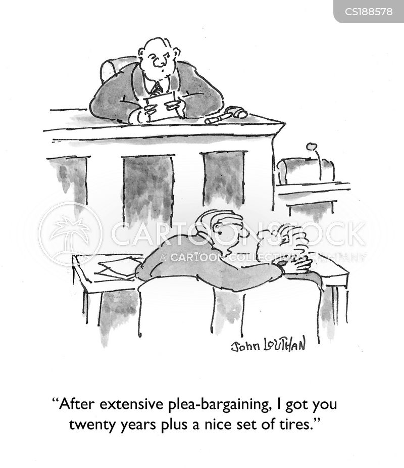 plea bargain cartoon
