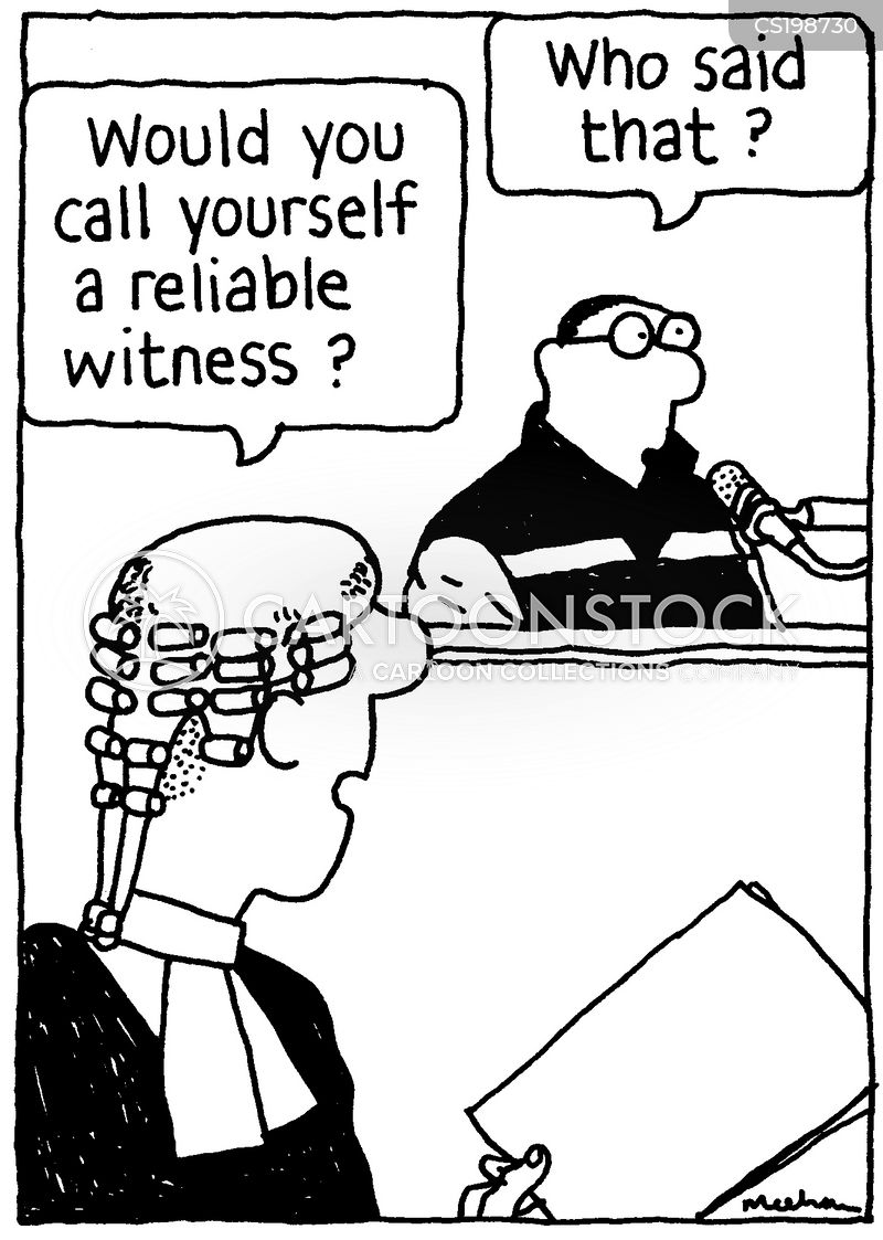 reliable witnesses cartoon