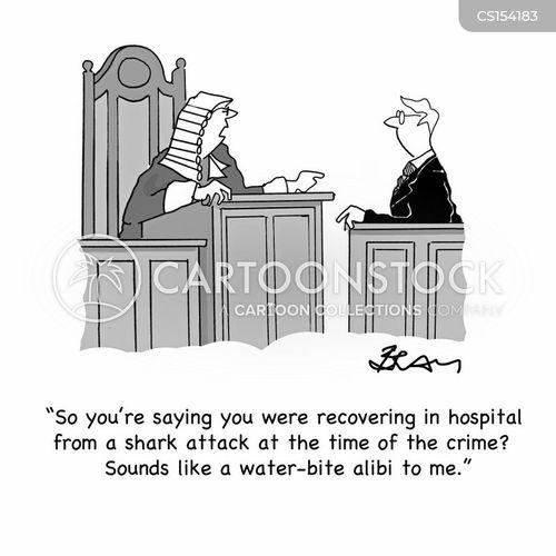 legal defence cartoon