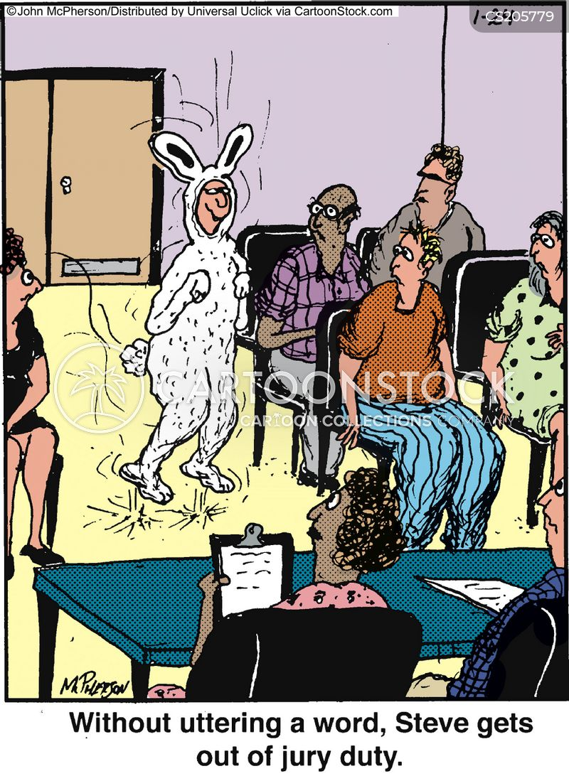 bunny suit cartoon