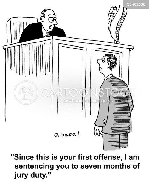jury duties cartoon