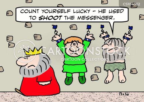 shoot the messenger cartoon
