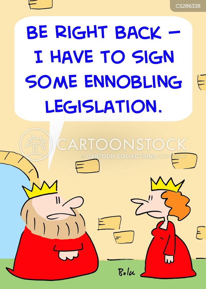 ennobling legislation cartoon