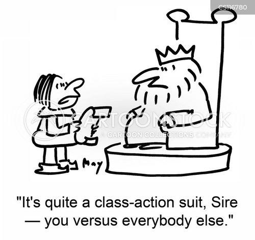 class action cartoon