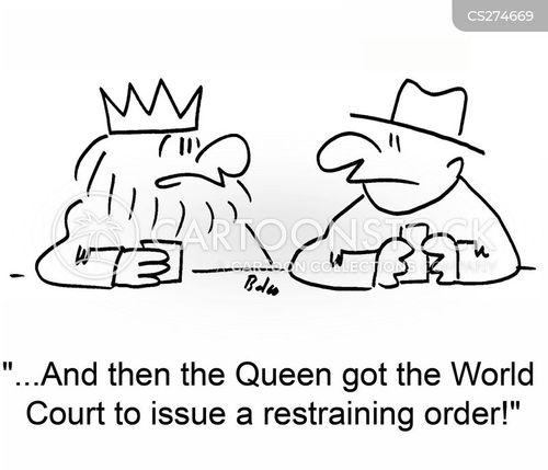 restraining cartoon