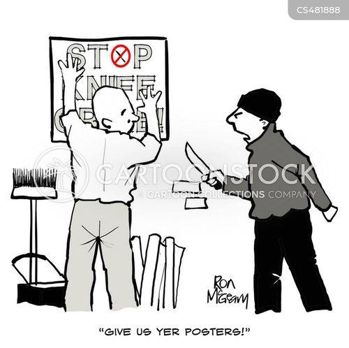 criminal actions cartoon