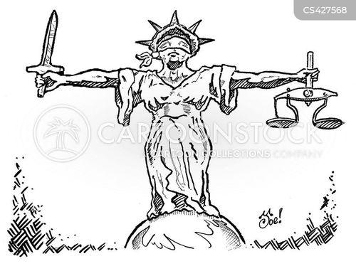 lady justice cartoon