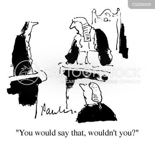 criminal court cartoon