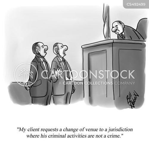 criminal activity cartoon