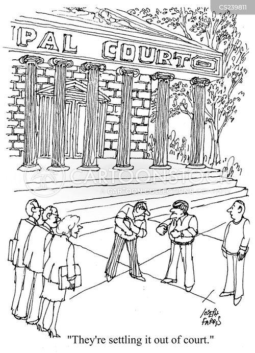 law courts cartoon