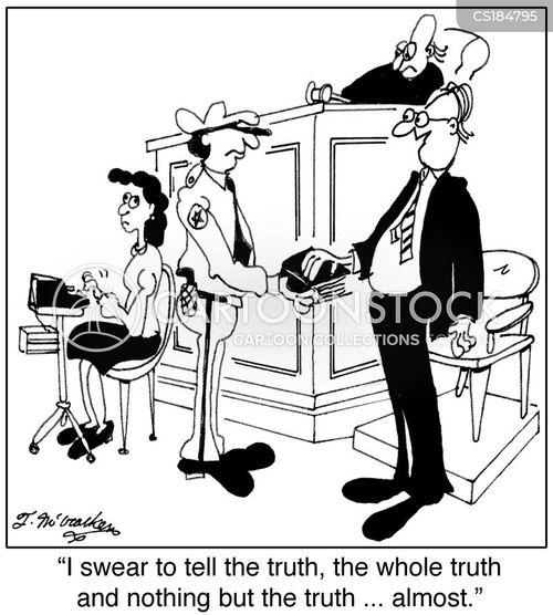 court case cartoon