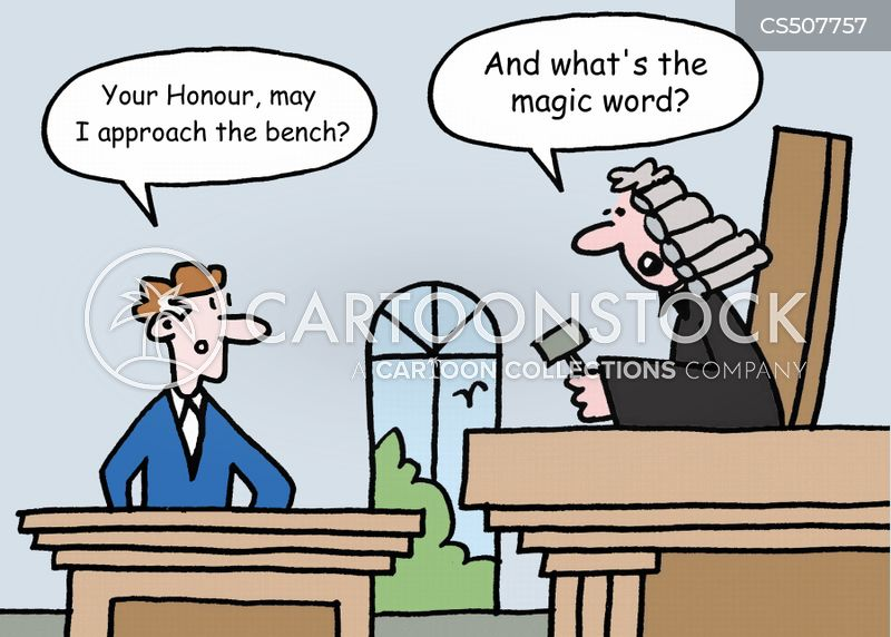 courtroom etiquette cartoon