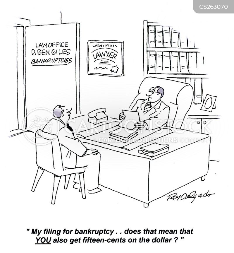 out of money cartoon