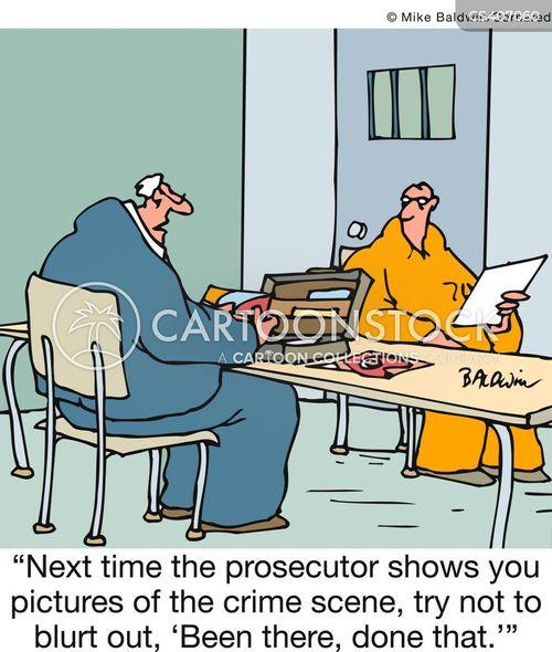 defence lawyer cartoon