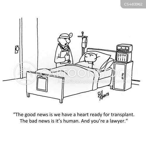 transplant surgeries cartoon