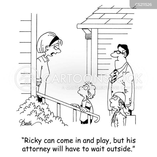 litigation suits cartoon