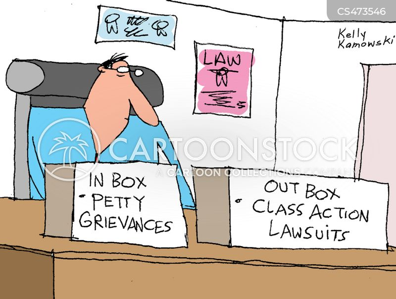 class action lawsuits cartoon