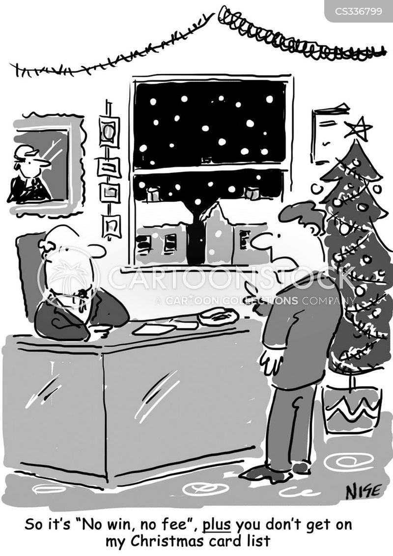 christmas card list cartoon