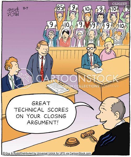 judge scores cartoon