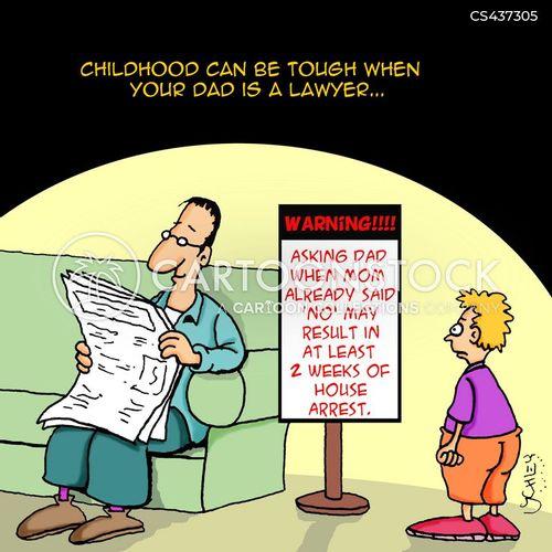 house arrest cartoon