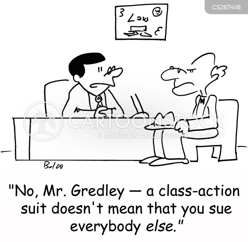 class action suit cartoon