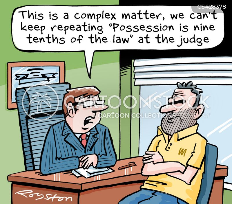 possession is nine tenths of the law cartoon