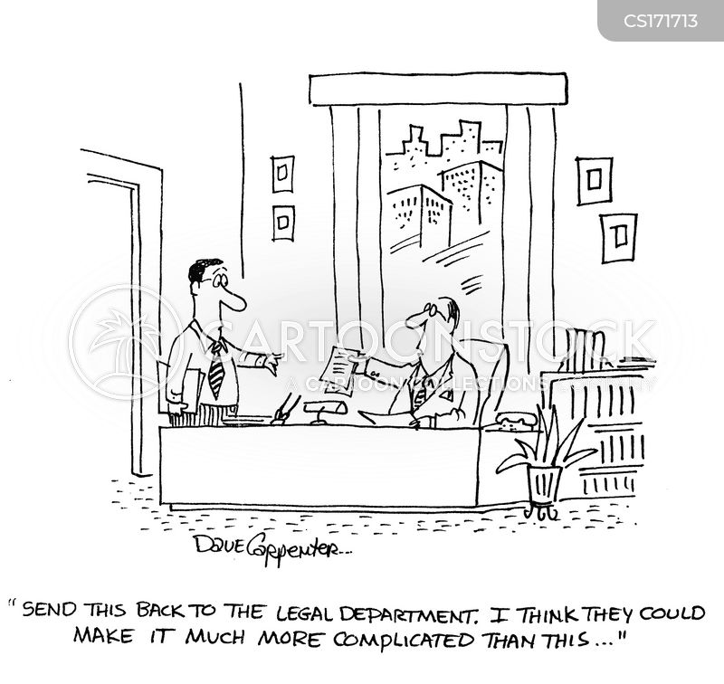 legal department cartoon