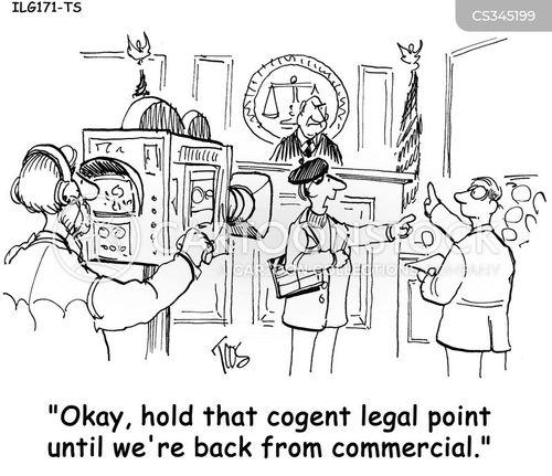 celebrity trial cartoon