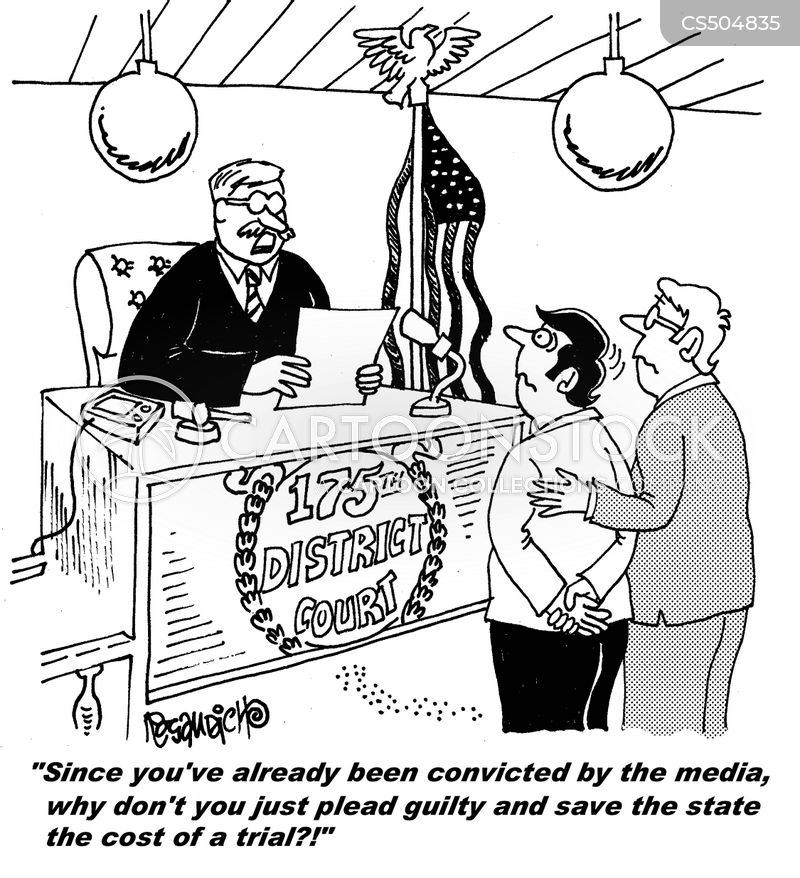 guilty pleas cartoon