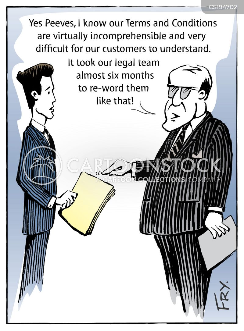 legal language cartoon