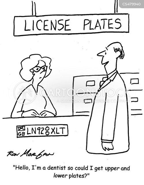 licence plates cartoon