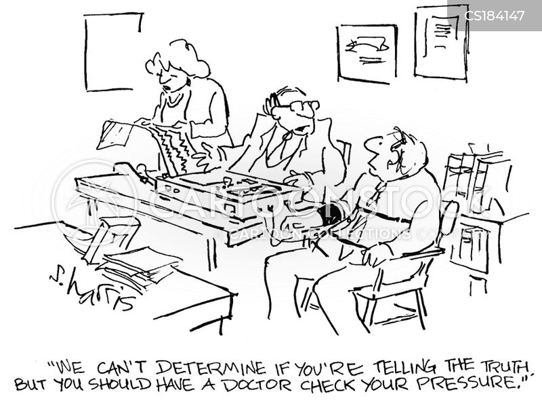 lie detectors cartoon