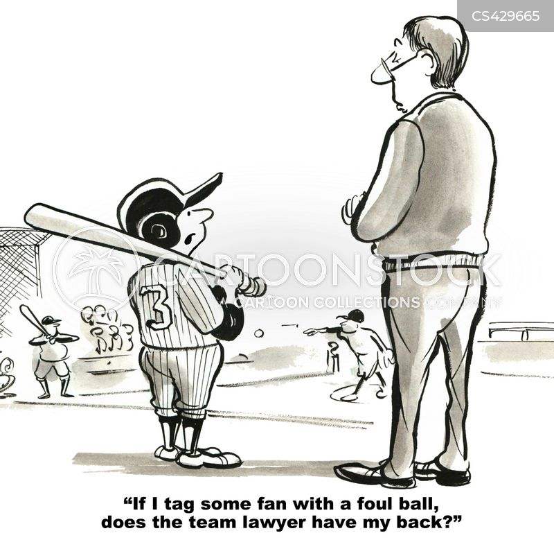 foul ball cartoon