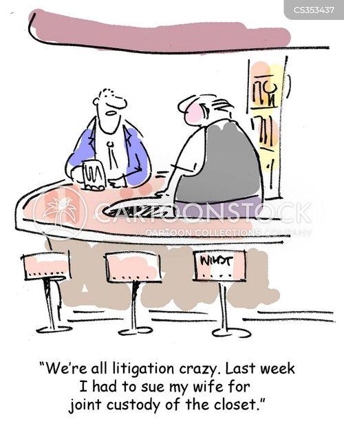 talking legal action cartoon