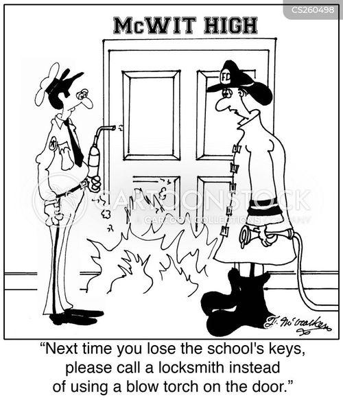 blow torch cartoon