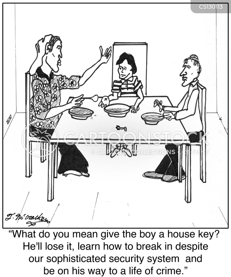 latch key kid cartoon