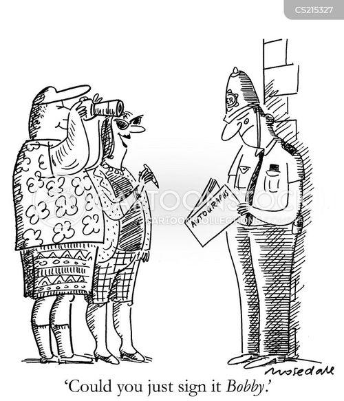 london bobby cartoon