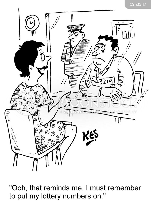 lottery number cartoon