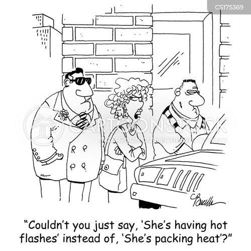 hot flushes cartoon
