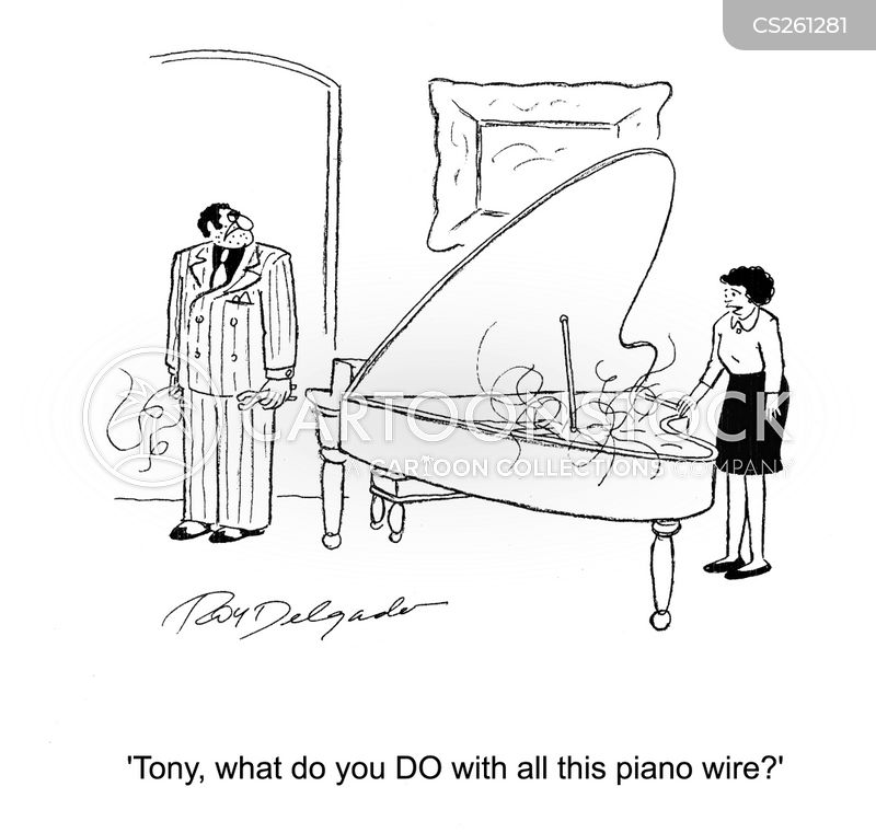 Piano Wire Cartoons and Comics - funny pictures from CartoonStock
