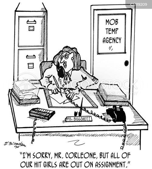 contract killers cartoon