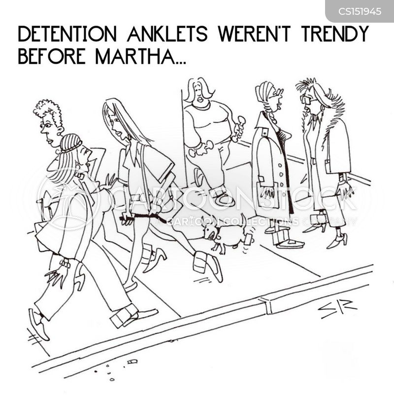 detention anklet cartoon