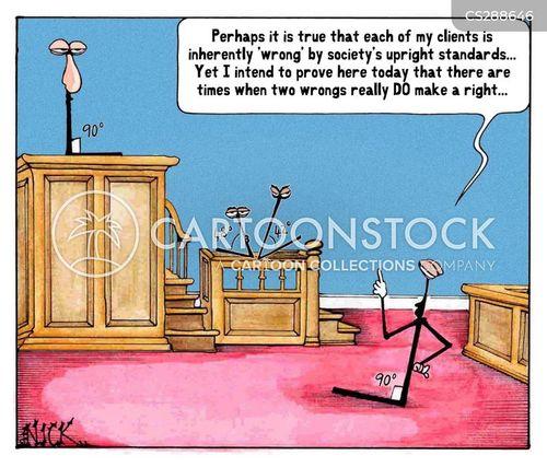 upright cartoon