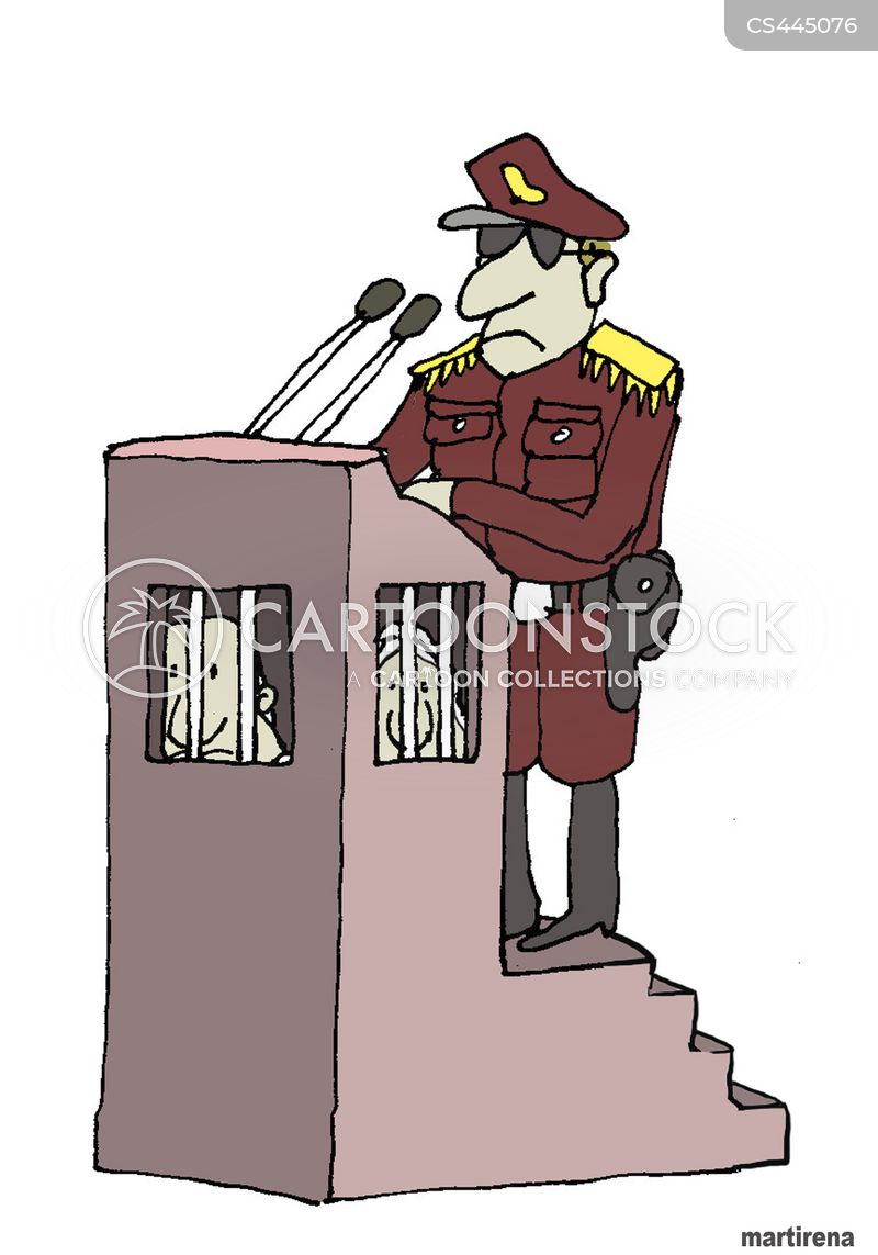 military coup cartoon