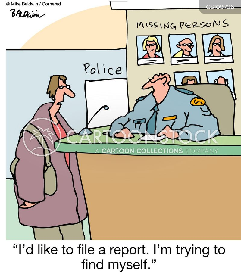 file a report cartoon