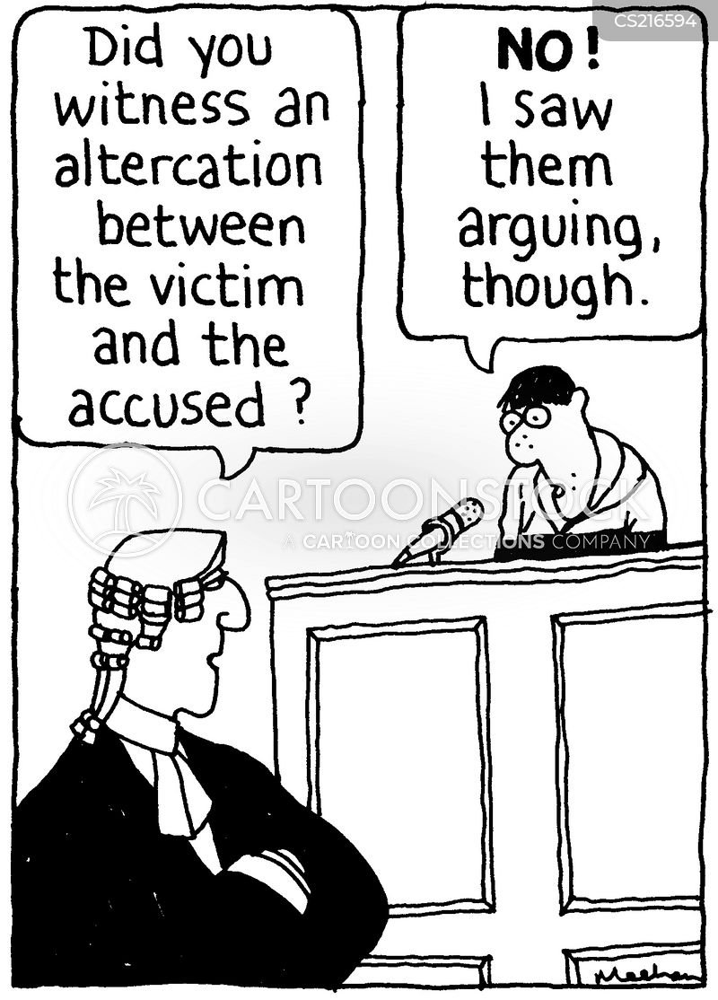altercation cartoon