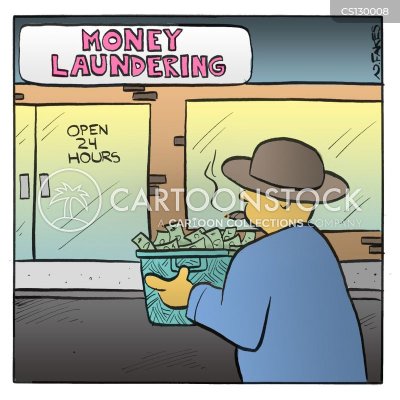 money launderers cartoon