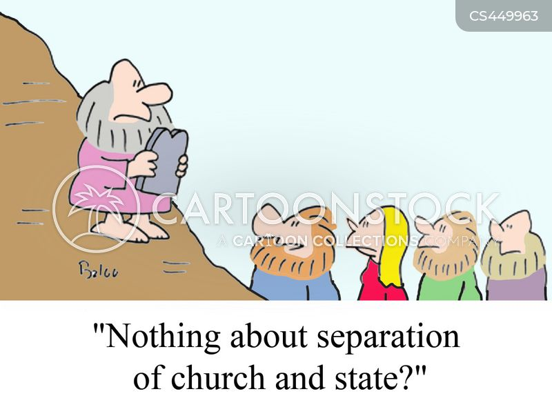 separation of church and state cartoon