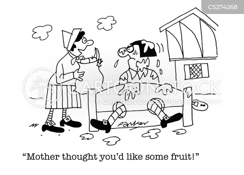 rotting fruit cartoon