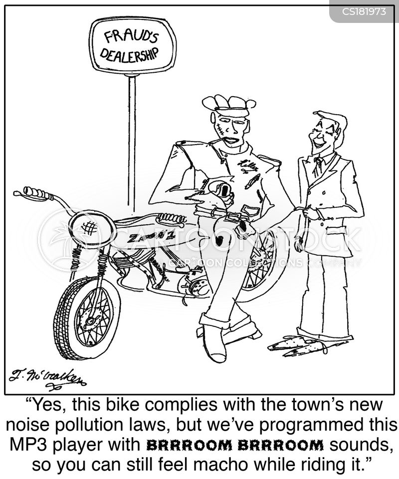 noise pollution cartoon